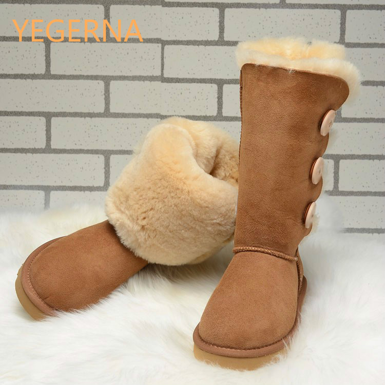 2016 Australia fashion Women Genuine Sheepskin Leather Snow Boots 100% Natural Fur Snow Boots Warm Wool Winter Boots 2016 australia genuine sheepskin leather women snow boots 100% natural fur winter boots warm wool ankle boots