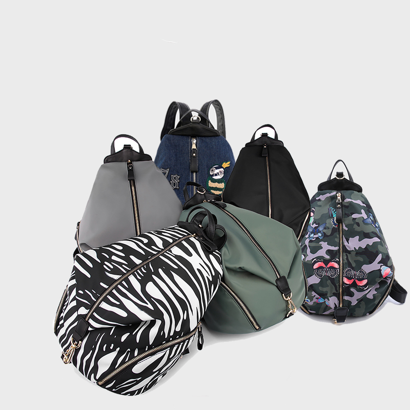 G-1601 Backpack For Student Teenager Printing Waterproof Nylon Bag Genuine Leather Women Bags Casual bags