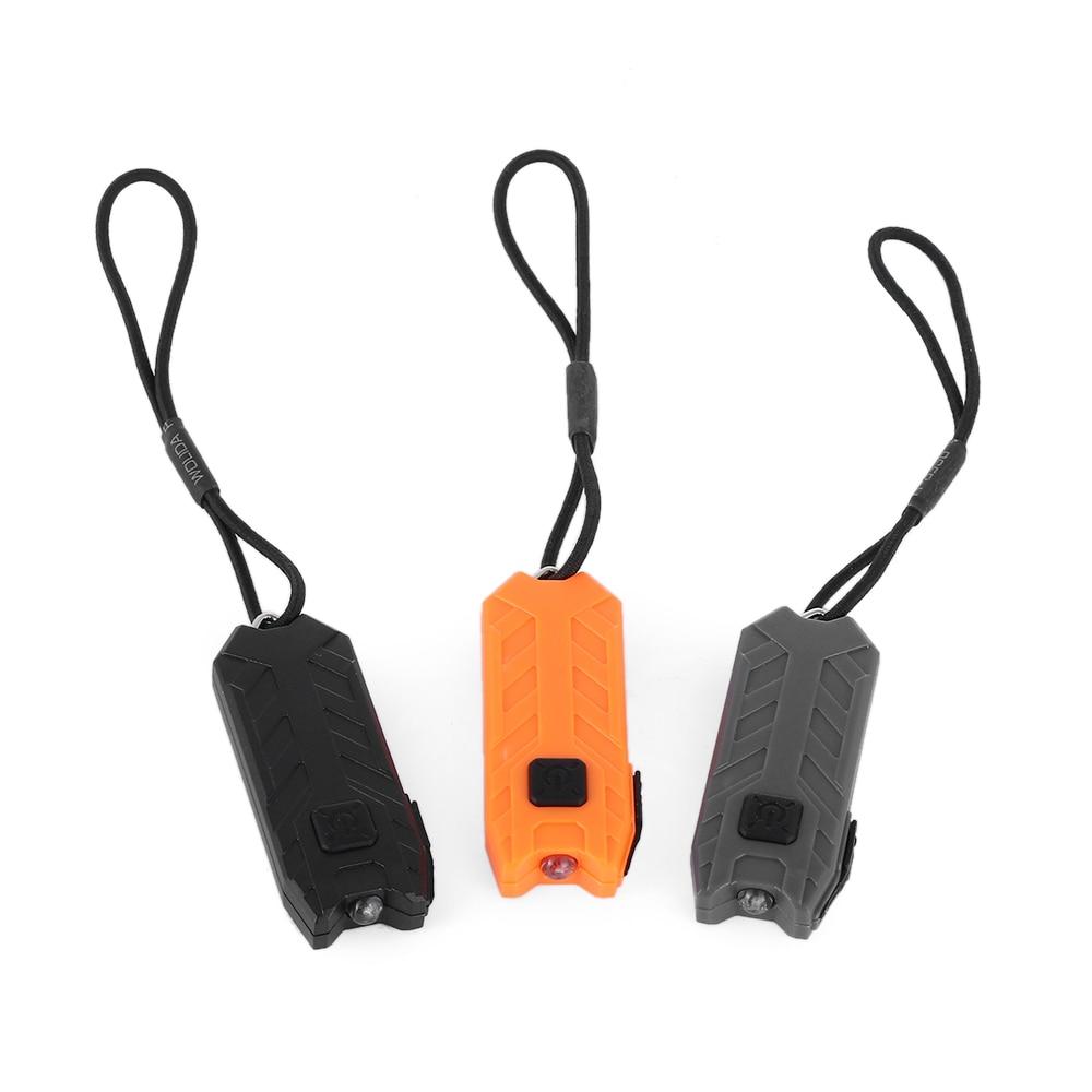 Keychain Flashlight Tube Led USB Charging Portable Keyring Light Rechargeable