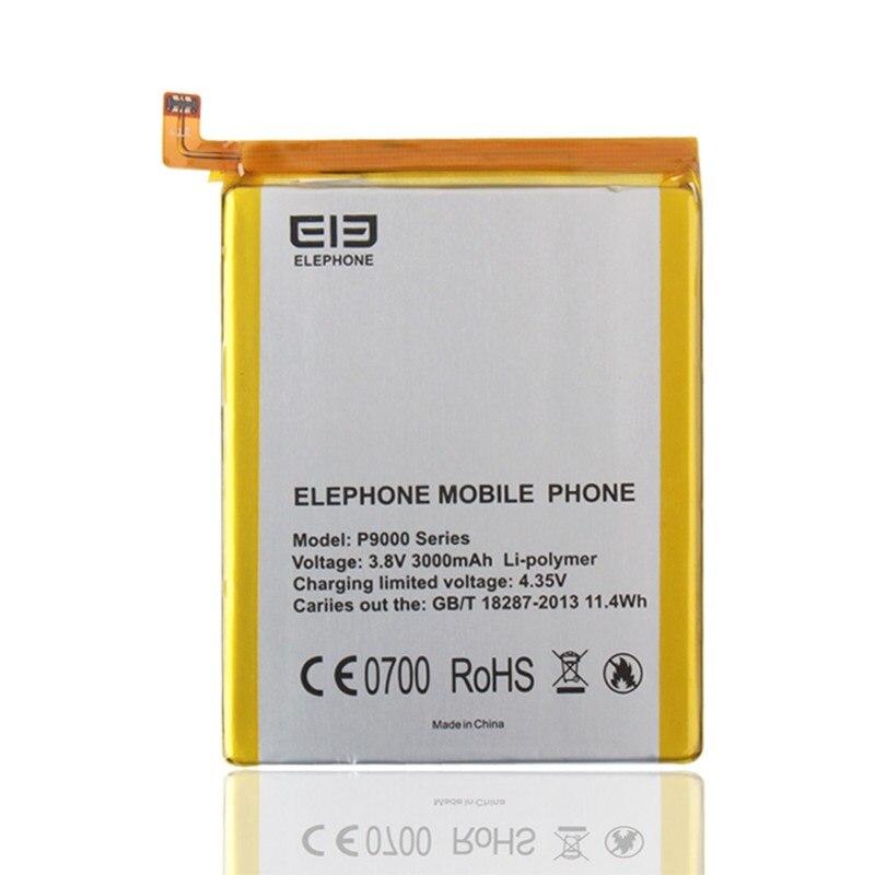 Cep telefonları ve Telekomünikasyon Ürünleri'ten Cep Telefonu Bataryaları'de Elephone P9000 pil yüksek kaliteli orijinal 3000mah yedek yedek Elephone P9000 Lite Smartphone title=