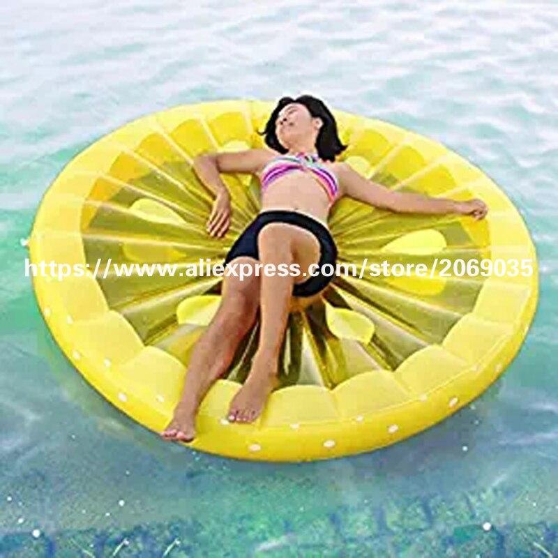 Gigante 60 Pulgadas Rodaja de Limón Piscina Flotador Lounge - Deportes acuáticos - foto 2