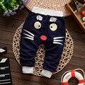 2017 Новая Коллекция Весна и Осень детские брюки хлопок звезда шаблон дети брюки новорожденных девочек мальчиков брюки