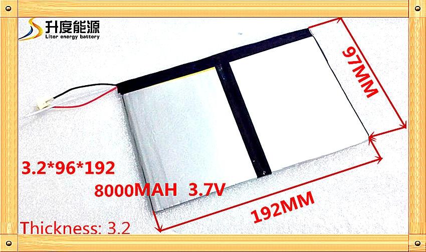3296192 3.7 v 8000 mAh Pour Teclast X98 air 3G P98 3G v99i Tablet PC Batterie 3 fil Parfait qualité de grande capacité alternatives