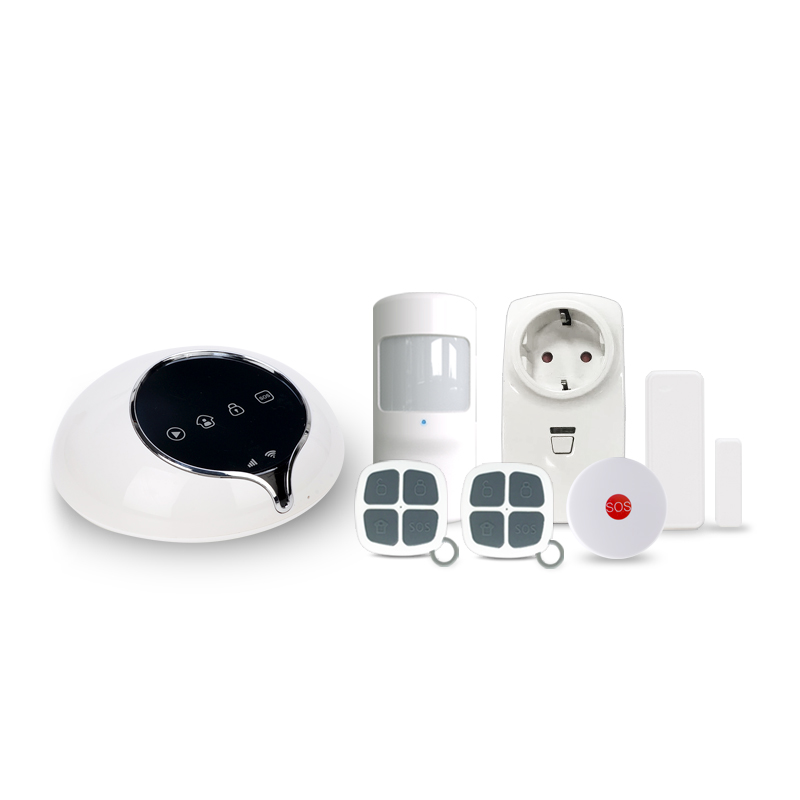 Intelligent home security alarm system work with smart socket & Android/IOS App control 3G WCDMA alarm system home security