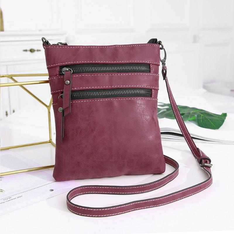 866622c36641 Vintage Women PU Square Crossbody Bags Handbags Shoulder Zipper Bag Casual  Accessories Features  Square Pattern