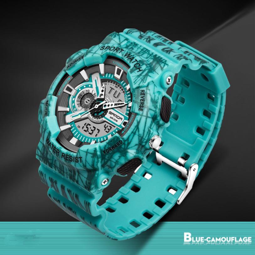 Fashion Watches LED Digital Men Sports Chronograph Military Digital Wrist Waterproof Watches Horloges Mannen Horloge Luxe 50P
