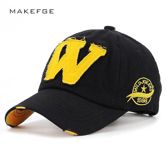 d1062a2040b NEW Retro Men Baseball Cap Women Hat Hip Hop Hat For Men Women Baseball Hat  Letter W Hip Hop Snapback Cap Bone Adjustable