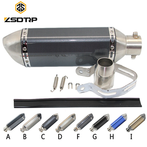 Image 1 - Выхлопная труба ZSDTRP для мотоцикла, глушитель со съемным дБ, GY6 CBR125 CB400 CB600 YZF