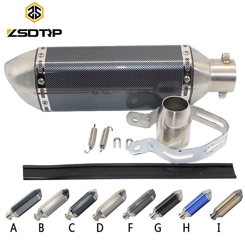 Zsdtrp universal escape da motocicleta akrapovic moto silenciador tubo com removível db assassino gy6 cbr125 cb400 cb600 yzf