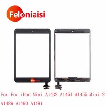 10Pcs For iPad Mini A1432 A1454 A1455 Mini 2 A1489 A1490 A1491 Tablet Touch Screen Digitizer Sensor Panel With IC Connector Home(China)