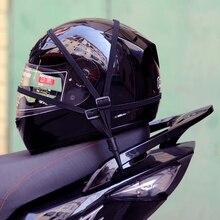 60CM Tiras do Capacete Da Motocicleta Da Motocicleta Acessórios Ganchos Bagagem Corda Elástica Retrátil Alça Fixa Moto Capacete Bagagem Net