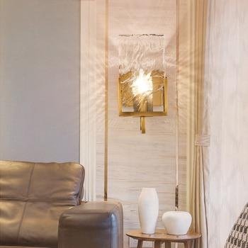 ポストモダンミニマ北欧大クリスタルブロック壁ランプのリビングルームのテレビの背景の壁の通路壁ランプドア外壁 led