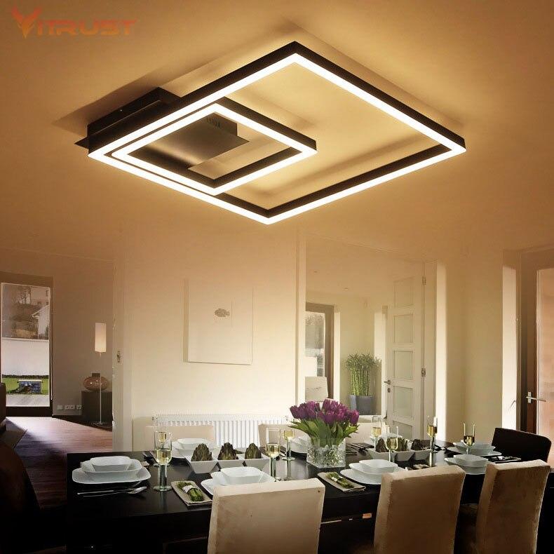 Créatif éclairage à la maison salon plafonnier encastré maison luminaires acrylique métal LED plafonnier AC110-240V