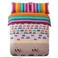 3pcs Dinoland Bedding Set For Children Kids Cartoon Printed Pattern Single Bed Duvet/Quilt Cover&Pillowcase Bedclothes Cotton