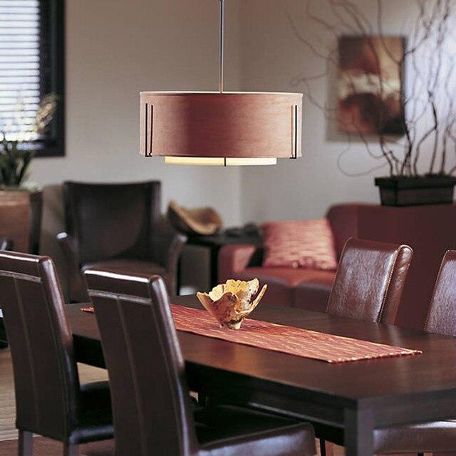 chinese style led simplicity art fabric restaurant pendant light