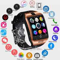 2018 Bluetooth Smart Watch Men Q18 With Touch Screen Big Battery Support TF Sim Card Camera for Android Phone Smartwatch PK DZ09