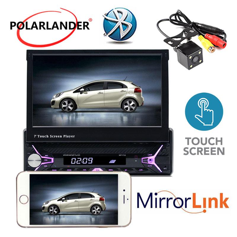 Autoradio radio lecteur cassette Mp5 Autoradio MP3/RDS/USB/SD/TF carte 1 Din 7 pouces main libre ecran tactile Bluetooth miroir Lin - 3