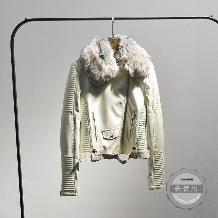 Agneaux Plus Velours Auto rose Vente Le Mode Manteaux Collier culture blanc Off Noir Veste Épaississement Printemps 2017 En Ceintures Cuir Pu Laine Cheveux v78W8cT