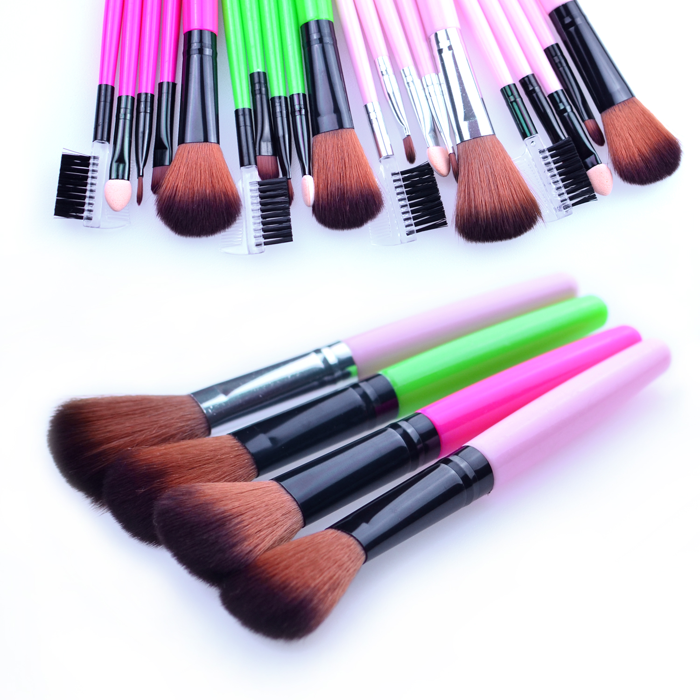 5pcs Pro Blue Pink Makeup Brushes Set Beauty Cosmetic Eyeshadow Powder Styling Tools Make up Brush Kit