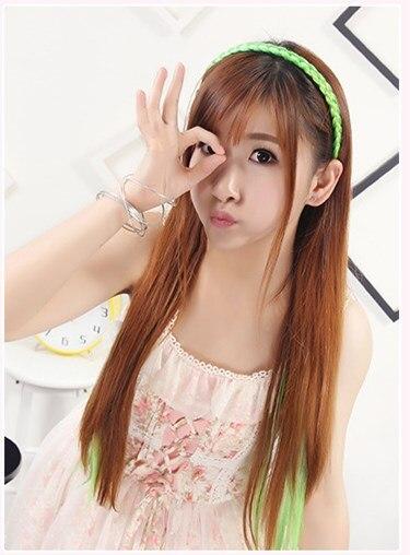 1 pc Fashion Mens Women Unisex Black Wavy Hair Head Hoop Band Sport Headband Hairband hair accessorie