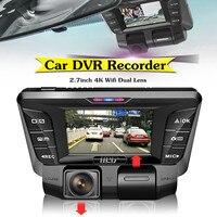 Wi Fi Видеорегистраторы для автомобилей Камера видео Регистраторы 2,7 дюйма 16:9 TFT TF карты 1080 P 4 К HD Скрытая регистраторы двойной объектив 16 128 ГБ