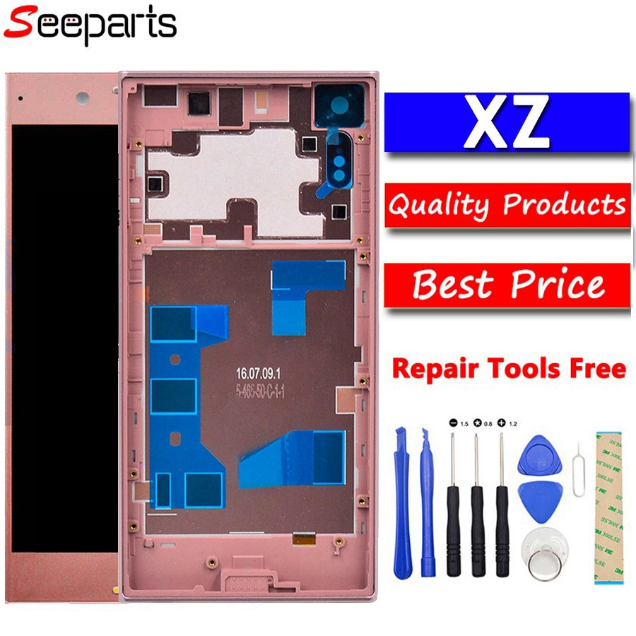 """For 5.2"""" SONY Xperia XZ LCD Display +Touch Screen Digitizer Assembly Replacement With Frame For SONY Xperia XZ F8331 F8332 LCD"""