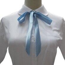 Tie Ribbon Uniform-Accessories Cravat Butterfly College JK Satin Lengthen Quality Multicolor