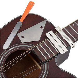 Image 5 - מקצועי גיטרה לדאוג שחיף Luthier תיקון טיפול כלי ערכת טחינת אבן סריגים אגוז קובץ מגן גיטרה אבזרים