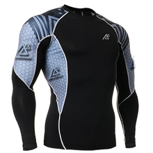 Tights For Men Fashion Muscle Man s Gear Long Sleeves Prints Quick Dry Compression T Shirts