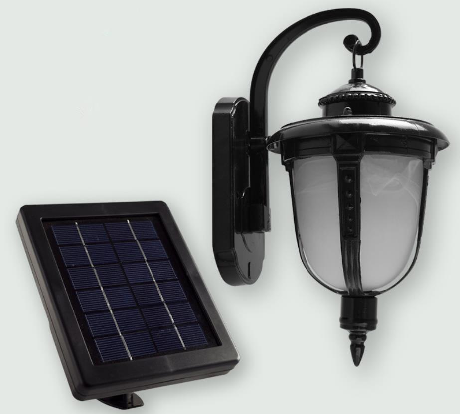 European Style  Solar lights  Outdoor Wall lamp Led Garden Lights Palace design Green-lighting Fixture