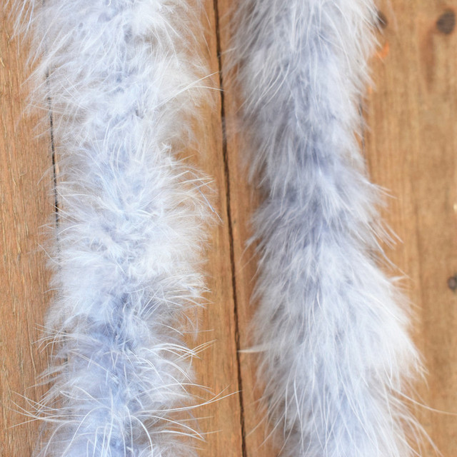 Beautiful 2 m / Various colors of natural turkey feather boa / slim evening dress / clothing / shawl / cosplay 5