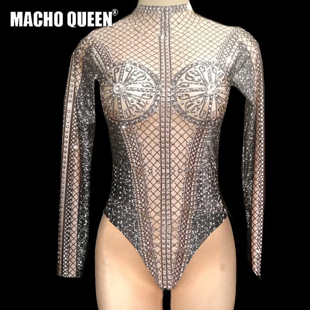 86086bf869 Drag Queen Costumes Burning Man Bodysuit Carnival Jumpsuit Performance Stage  Show Outfits