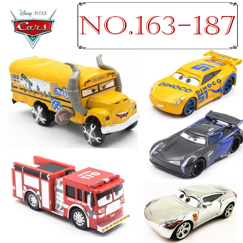 No.163-187 New Disney Pixar Cars 3 METAL Diecast Cars Jackson Storm Cruz Ramires Sterling Diecast Kid Toys For Children Gift