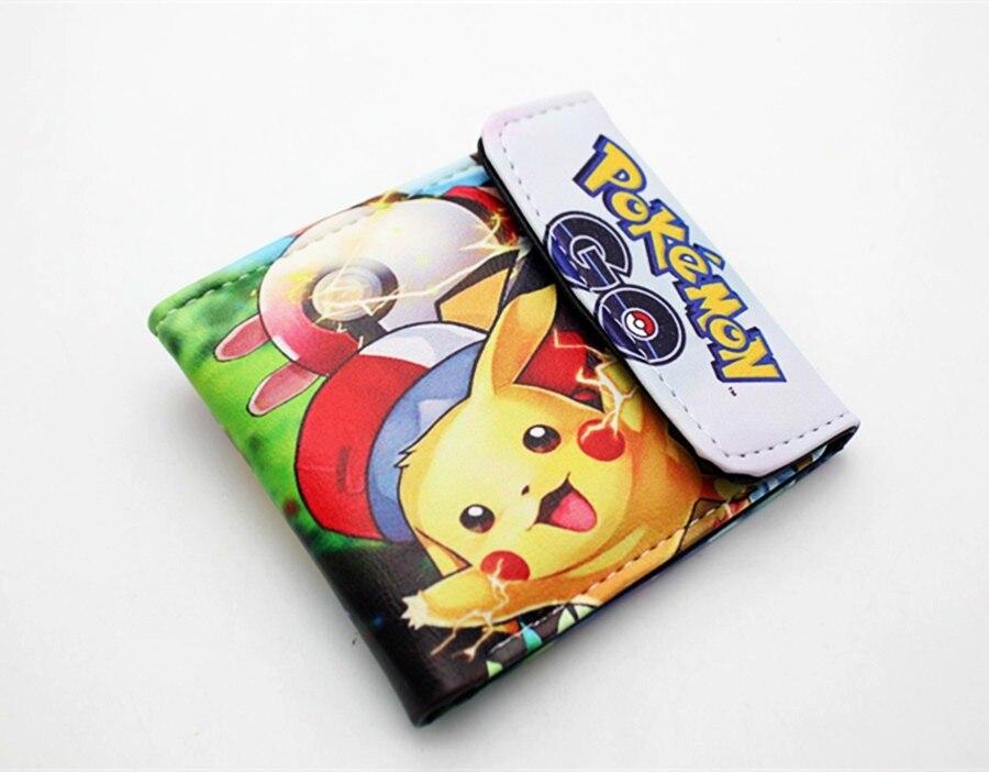 2019 Nieuwe Stijl Pocket Monster Pokemon Portemonnee Voor Tiener Jongen Meisje Kawaii Pikachu Poke Ball Portemonnee Lederen Student Dollar Tas Kaarthouder Purse Aangenaam Voor Het Gehemelte