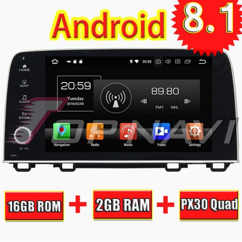 TOPNAVI Quad Core Android 8 1 Car Multimedia Player for Honda CRV 2017 Autoradio font b