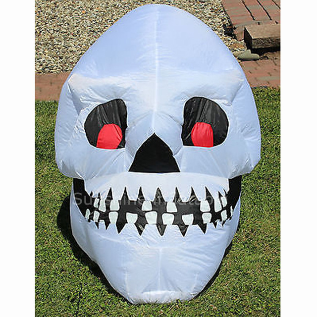 custom giant 3m airblown inflatable skull yard halloween decoration for party decoration