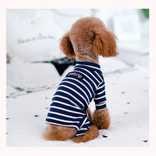 ФОТО striped pet puppy dog jumpsuit clothes for dog for small medium dogs shih tzu yorkshire terrier pajama dog costumes overalls