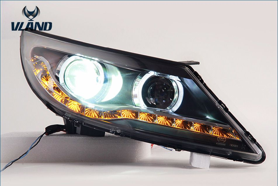 VLAND manufacturer for Car head lamp for sportage LED Headlight 2012 2013 2014 Head light with H7 Xenon lamp and Day light