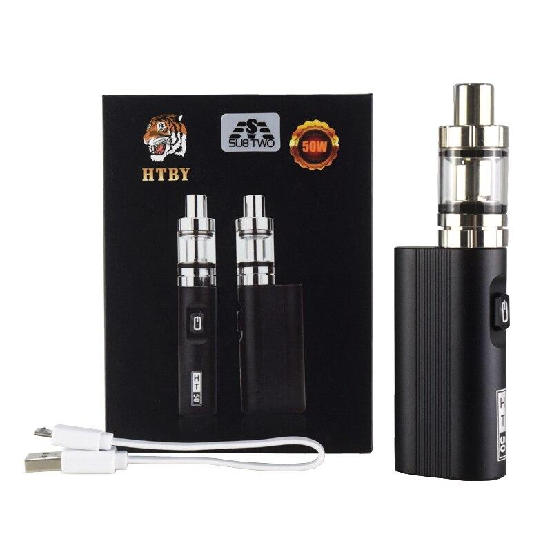 HT 50 Box Mod electronic cigarette vaporizer 2200mah new 50w kit Vape pen 2ml Atomizer Tank e-cigarette Vaporizer Vapor