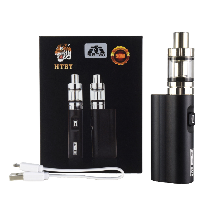 HT 50 Box Mod elektronische zigarette verdampfer 2200 mah neue 50 watt kit Vape stift 2 ml Zerstäuber Tank e -zigarette Verdampfer Dampf