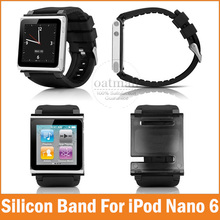 New Silicone Aluminum Wrist Watch Band for Apple iPod Nano 6 6th Generation iwatchz Case Strap