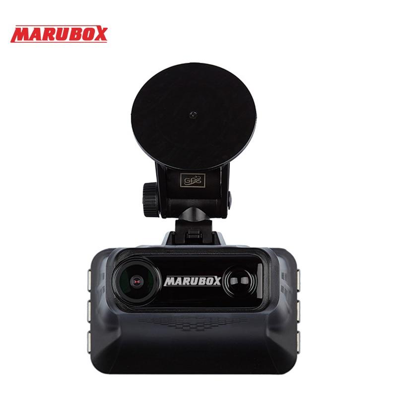 ZENISS Лидер продаж Marubox Автомобильная камера DVR Радар детектор GPS регистратор 3в1 HD1296P 170 градусов Автомобильный видеорегистратор для России M610R - 5