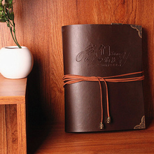Retro photo album High-grade leather handmade gift /gift for her or family /customize letters for free