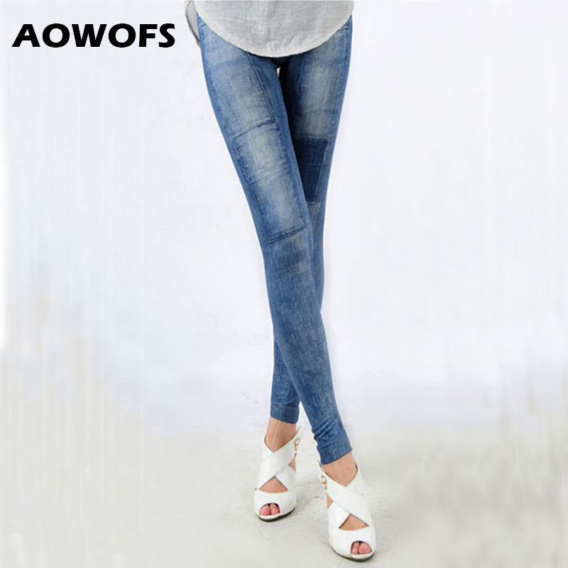 Skinny Denim   Leggings   Women Slim Thin Black Jeans   Legging   Casual Elastic High Waist Pencil Pants Blue Denim   Leggings   Women Hot