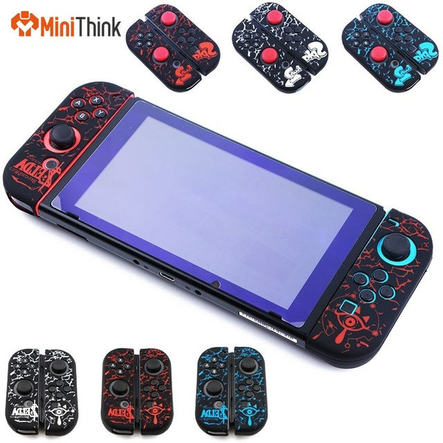 discount 3d53f a7bfe US $3.54 20% OFF|for Nintendo Switch Joy Con Controller Soft Silicone  Protective Anti Slip Skin Case Cover Sleeve Grip Zelda1/Splatooh 2  Design-in ...