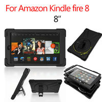 For Amazon kindle fire 8 Tablet Cover 8'' Heavy Duty Fundas Shockproof Armor Hydrid Case PC Silicon Protective Shell Stand Skin