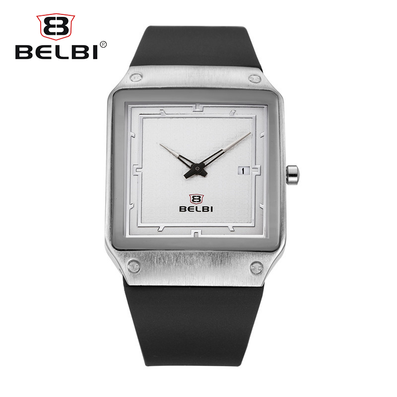 BELBI Top Luxury Brand Fashion Men Watches Silicone Strap Clock Male Casual Sport Watch Men Lumin Wrist Quartz Sport Watch dropship migeer brand luxury fashion canvas strap watch men quartz watch casual males sport business wrist men watches