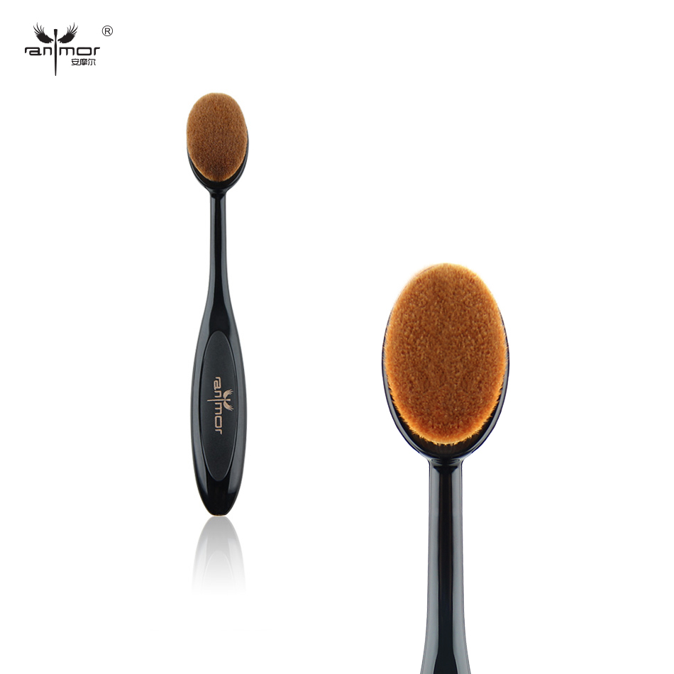 1 Piece Oval Makeup Brush Soft Foundation Brochas Maquillaje High Quality Make Up Brushes top quality foundation brush angled makeup brush