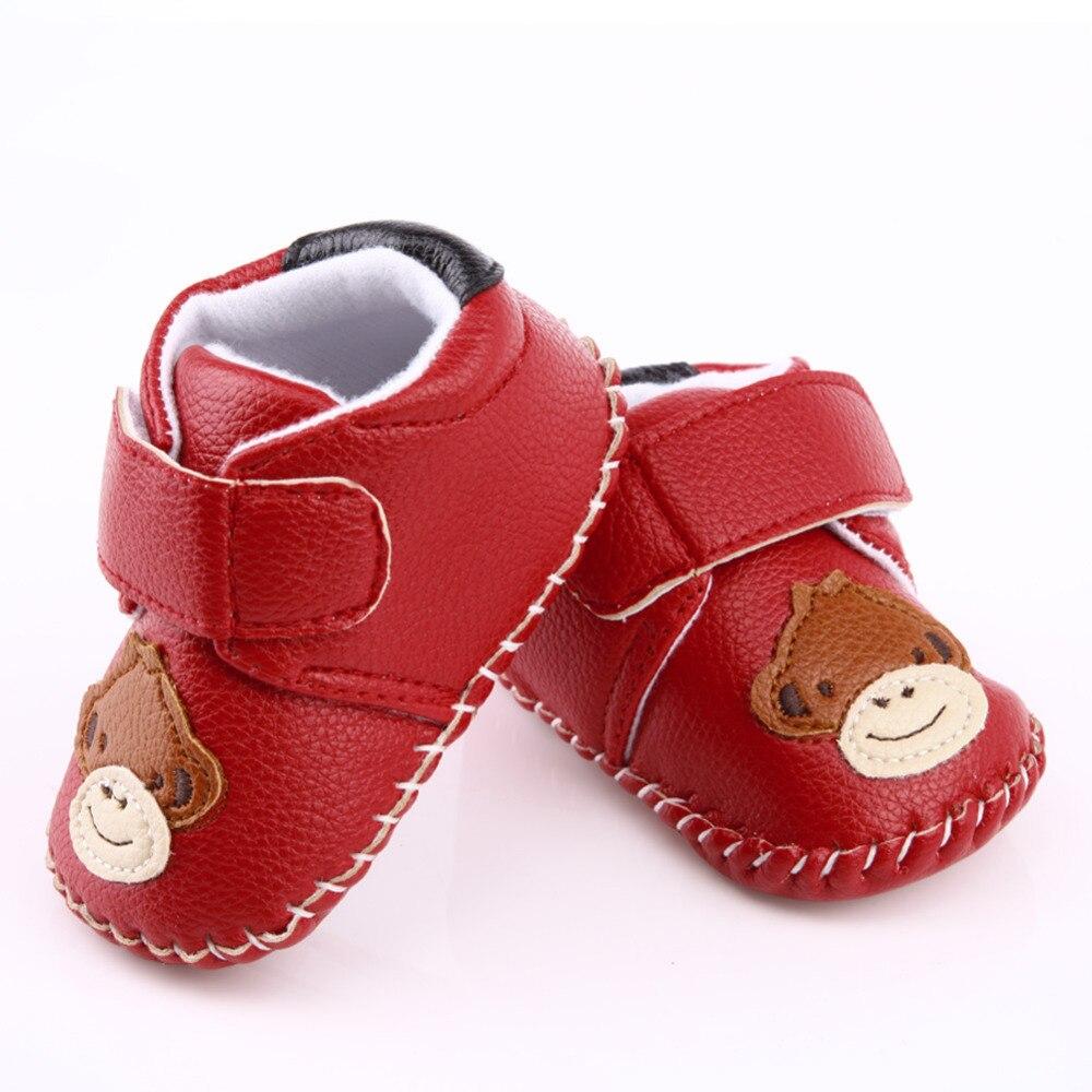 Red Baby Shoes Footwear for Children Winter Warm Cartoon Newborn Toddler Soft Sole First Walkers