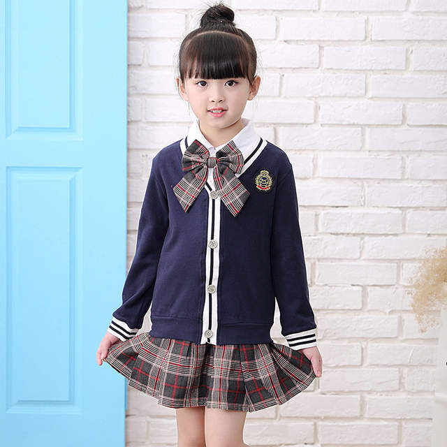2268abe07d275 US $34.29 20% OFF Japanese school uniform for girls kid fall set  kindergarten graduation toddler boy winter clothes gown back to school  outfit P20-in ...